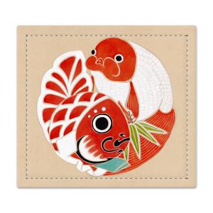 捺印マット[津軽錦と金魚ねぶた]