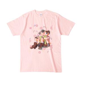 倫太&雪 桃太郎Tシャツ(ももいろ)