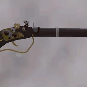 オリジナル3Dモデル スチームパンク風 マスケット銃