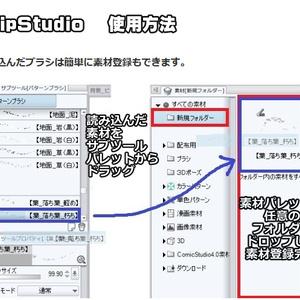 コミスタ・クリスタ用_有刺鉄線ブラシ素材(簡易版)
