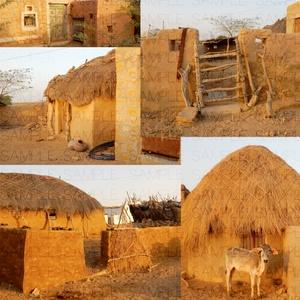 荒野の貧村:写真素材集