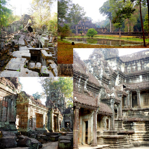 熱帯の古代遺跡:写真素材集