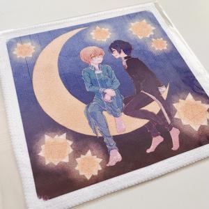 キリト&ユージオ ミニタオル(紺)