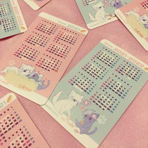 運囚ねこカレンダーカード
