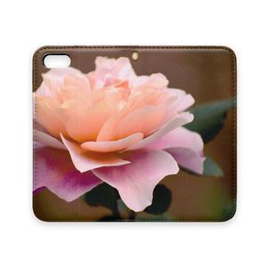 薔薇のスマホケース(手帳型iPhoneケース、ベルトなし)
