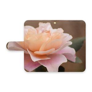 薔薇のスマホケース(手帳型Androidケース、ベルトあり)