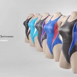 3Dモデル 競泳水着 PSD付き