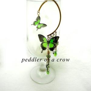 蝶のイヤーフック 4種/各1