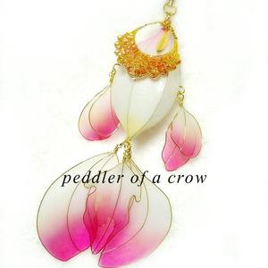 白金魚の簪 水色/紫/桃色 3種/各1