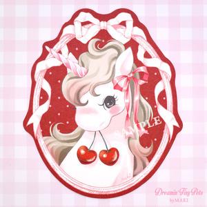 ダイカットカード [Cherry Unicorn]