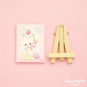 ミニチュアキャンバス[Telephone Bunny]