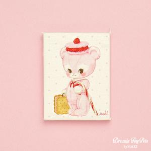 ミニチュアキャンバス [Journey the Teddy Bear]