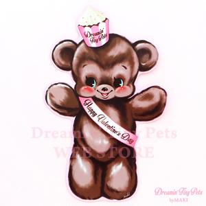 ダイカットカード [Valentine's Bear]