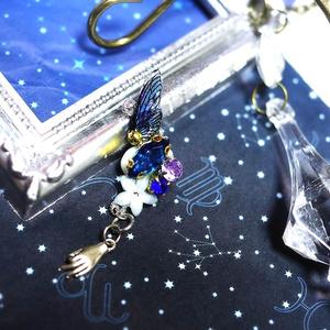 闇夜の蝶のイヤークリップ