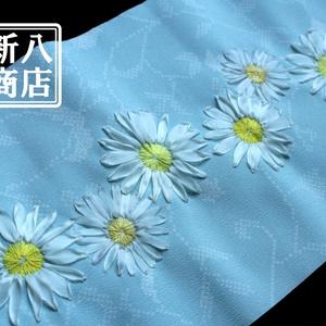 【リボン刺繍半襟】マーガレット