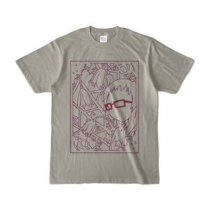 北川真尋+誕生花Tシャツグレー