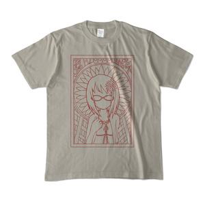 上条春菜+誕生花Tシャツグレー