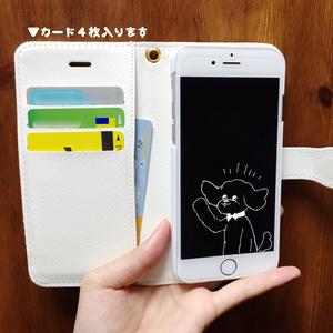 トイプードル(いたずら) iPhone6/6s手帳型スマホケース