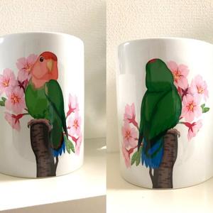 コザクラインコマグカップ