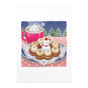 ポスター【雪光る冬のドーナツ】