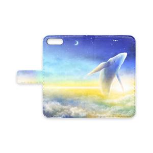 手帳型iPhoneケース【空の上のクジラ】