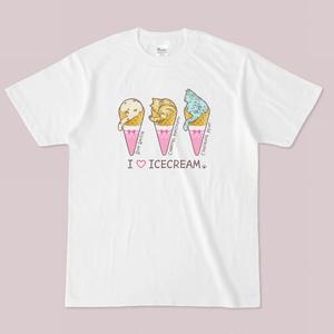 Tシャツ【アイスクリーム】BGホワイト