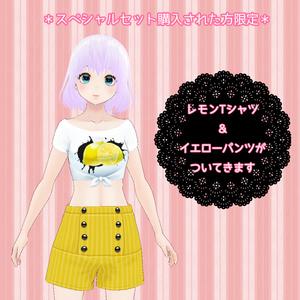 【Vroid】カジュアルなイチゴTシャツセット