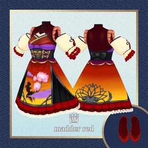【#Vroid】和風ロリータドレスセット全4色