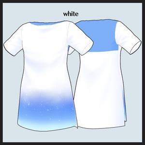 【#VRoid】夜空柄ロングTシャツ【ロングコート用】