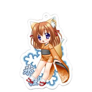 雪狐の巫女 氷柱 アクリルキーホルダー