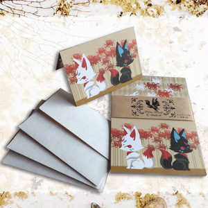 狐と彼岸花ミニレターセット【再販3】