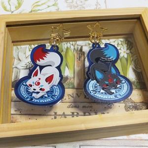 狐と魔法陣のアクリルキーホルダー【再販】