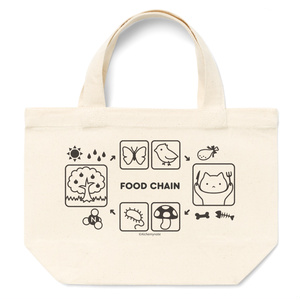 食物連鎖とねこトートバッグ