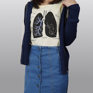 肺にねこ住んでたTシャツ(撮影時1回使用・値引有)