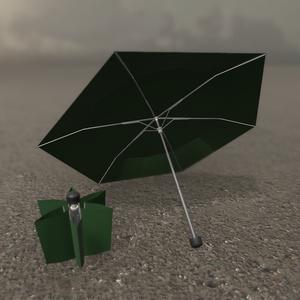 折り畳み傘 3Dモデル【VRChat想定】