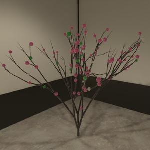 お正月向け だんご木(餅花)3Dモデル【VRChat可】