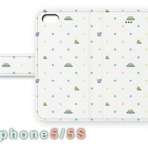 ちんまりインコの手帳型iphoneケース【5・5s】
