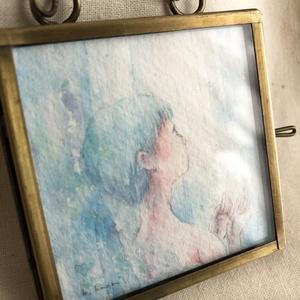 ガラスのアンティークフレーム原画