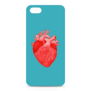 heart(light blue)iPhoneケース - iPhone 5 / SE