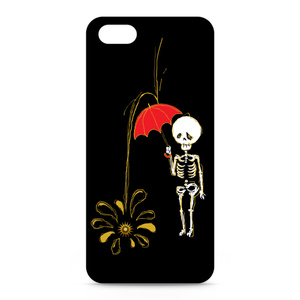 iPhone5/5sケース-正面印刷(星とホネ)