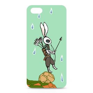 iPhone5/5sケース-正面印刷(狩人兎)