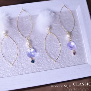 """ classic ファーのアメリカンピアス "" to,12COLOR"""