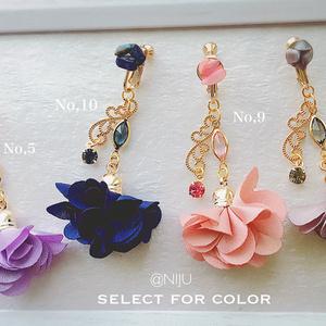 スワロフスキー*pierce earring*one-NIJU