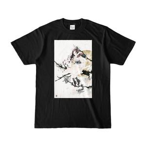 『桜』 カラーTシャツ(濃色)