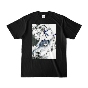 『渦』 カラーTシャツ(濃色)