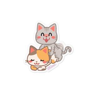 交尾をする猫 ステッカー