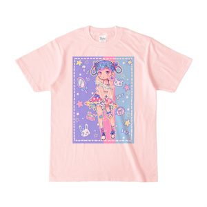 プリントTシャツ◆FUWALISH☆GIRL(ライトピンク)