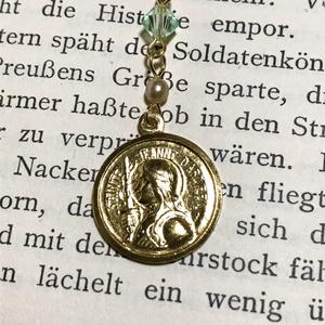 ジャンヌ・ダルクのメダイのネックレス