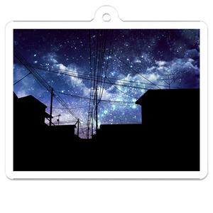 夜空のアクリルキーホルダー