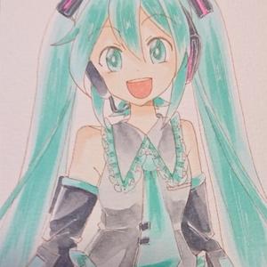 【手描きイラスト】初音ミク2